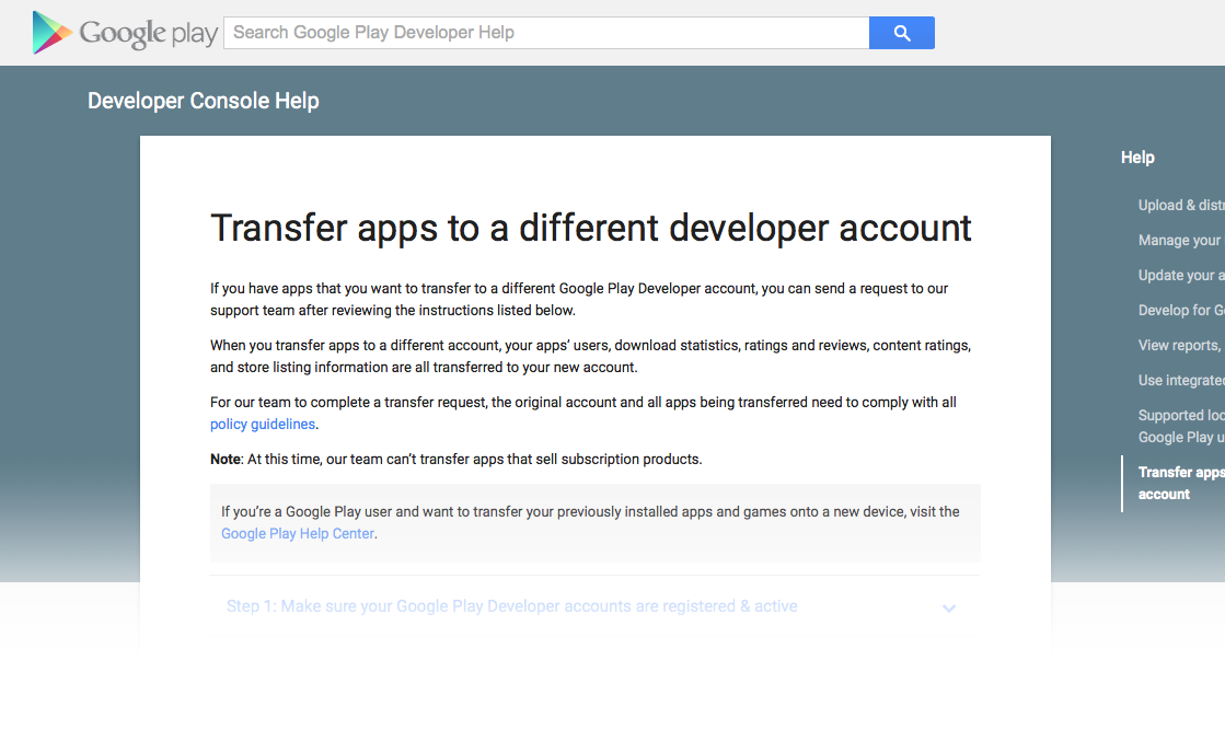 google play developer console download