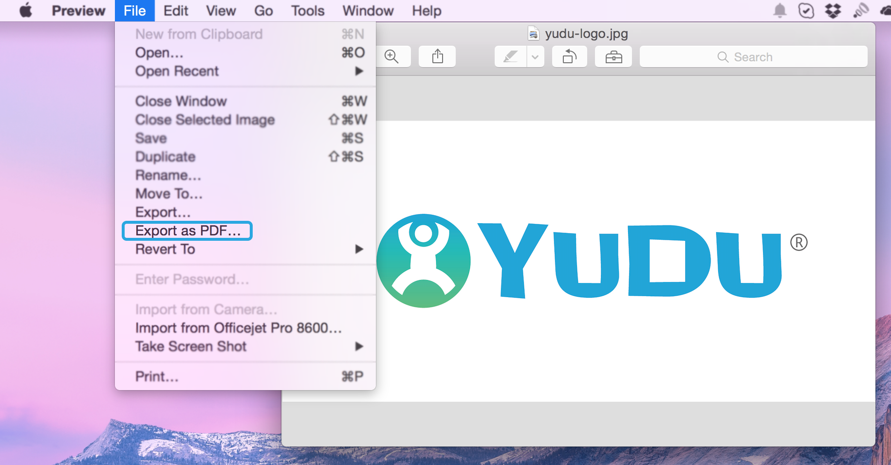Mac OSX: Save an image as PDF – YUDU Publisher Help Desk